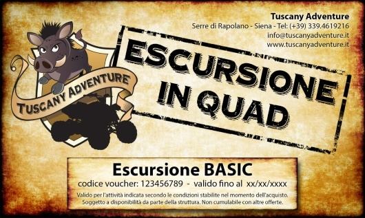 Vourcher Regalo per Escursione con Tuscany Adventure